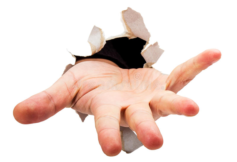 Bitten der Hand lizenzfreies stockbild