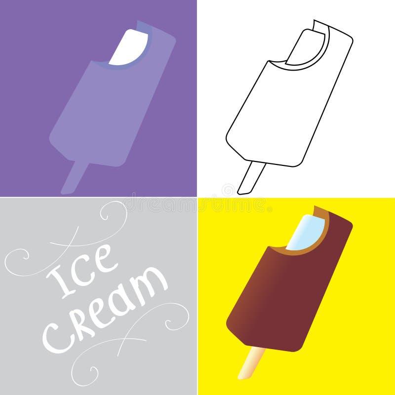 Bitten off ice creams. stock images