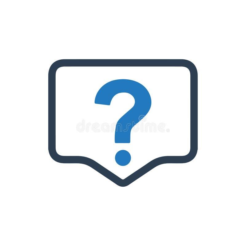 Bitten Sie um Fragen-Ikone vektor abbildung