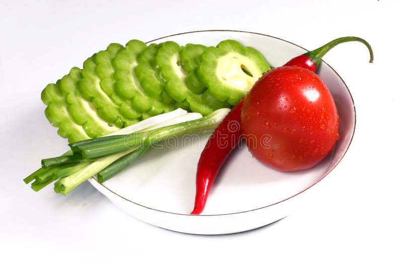bitter tomat för fjäder för lök för chiligreencitron royaltyfri fotografi