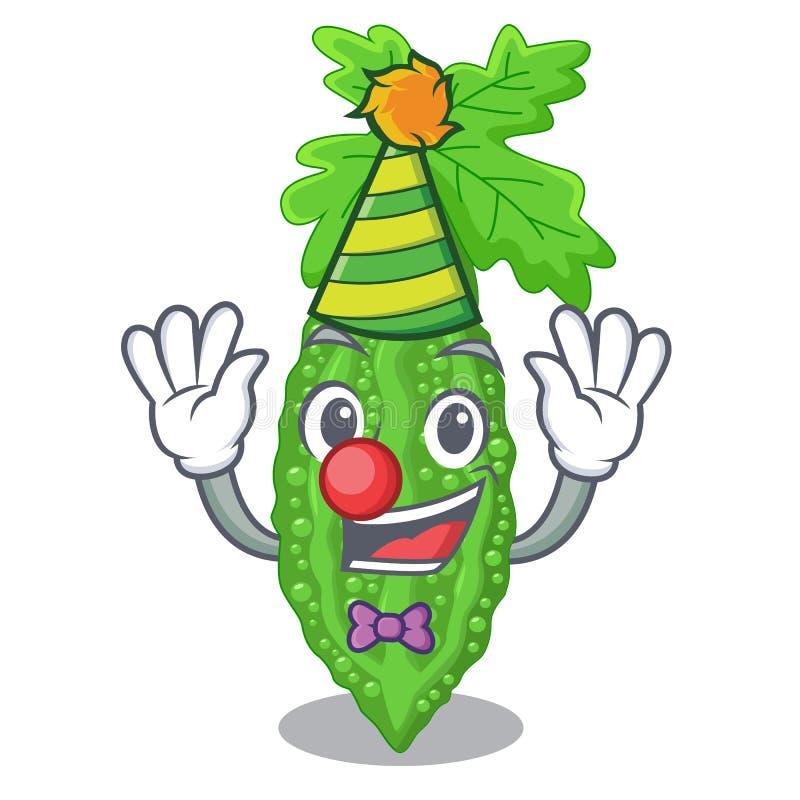 Bittere Melone Clown Momordica auf Birnenkarikatur lizenzfreie abbildung