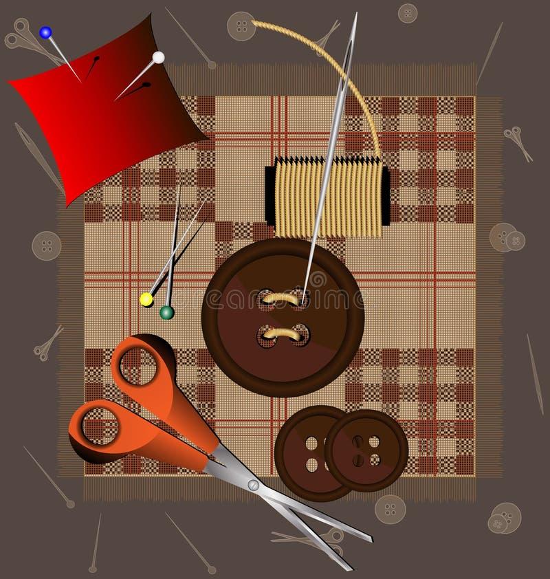 Bitton y aguja ilustración del vector