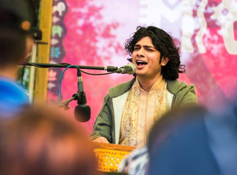 Bittu-Mallick-Künstler der klassischen indischen Musik in den Arten von Drupad, Dhamar, Khyal, Ghazal stockfotografie