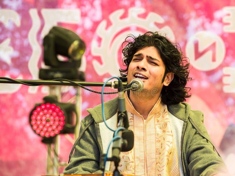 Bittu-Mallick-Künstler der klassischen indischen Musik in den Arten von Drupad, Dhamar, Khyal, Ghazal lizenzfreies stockbild