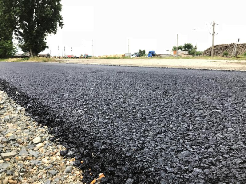 Bitumen Asphalt Road arkivfoto