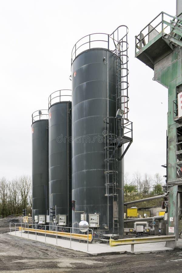 Bitumen Silos stock images