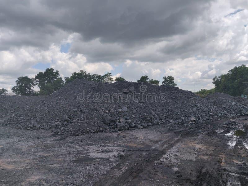 Bitumiczny - antracyta węgiel, wysokiego pozioma węgla zapas zdjęcia stock