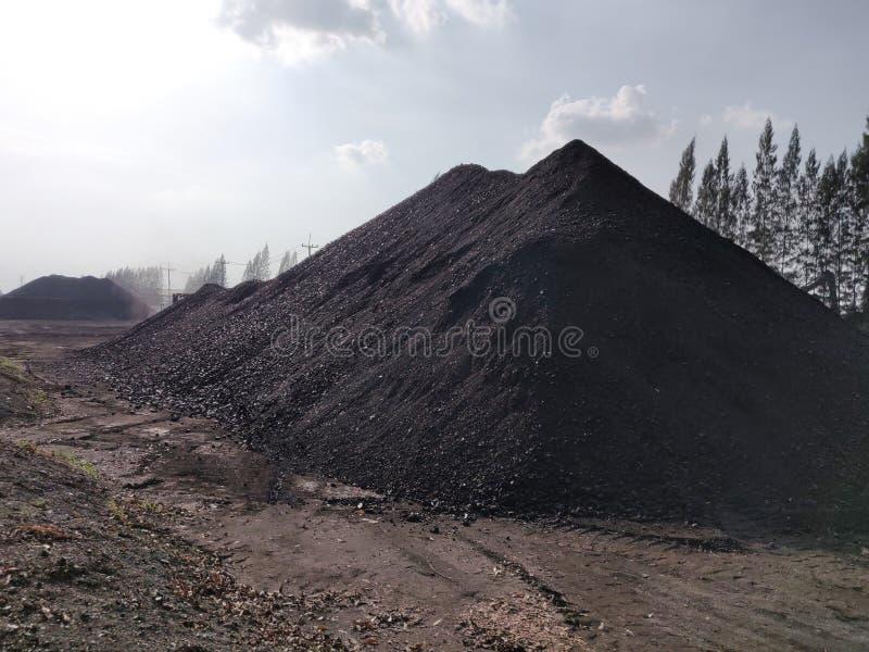 Bitumiczny - antracyta węgiel, wysokiego pozioma węgla zapas obraz stock