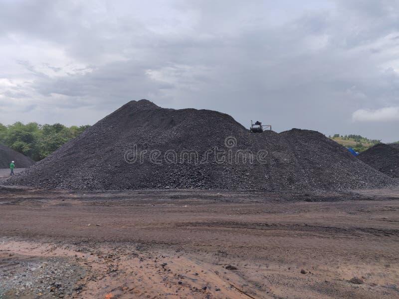 Bitumiczny - antracyta węgiel, wysokiego pozioma węgiel zdjęcie royalty free