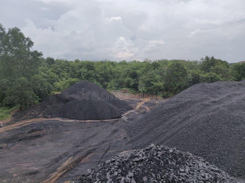 Bituminoso - carbón de antracita, carbón de alto grado fotografía de archivo