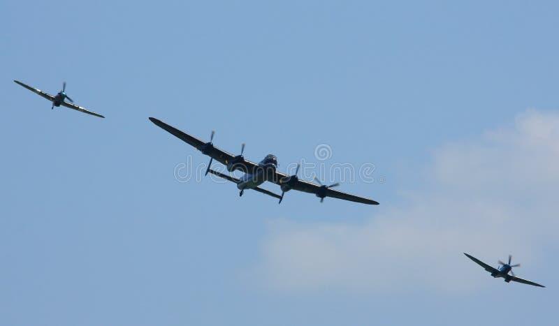 Bitwa Brytania Pamiątkowy lot (BBMF) zdjęcia royalty free