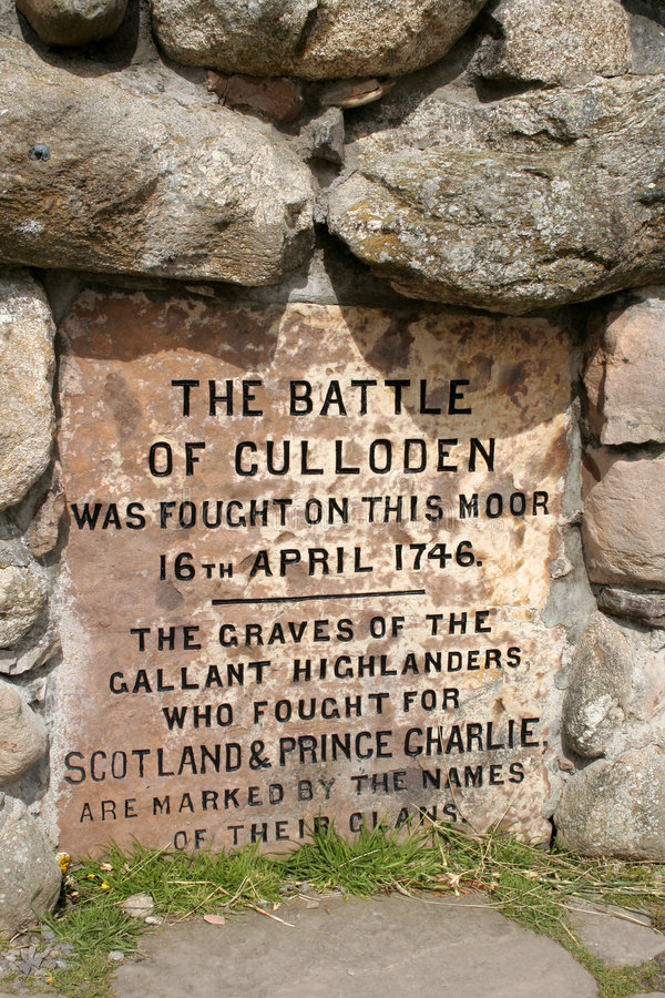 bitwa culloden pomnik obrazy royalty free