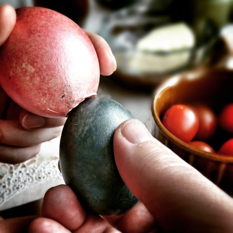 Bitwa jajka Artystyczny spojrzenie w roczników żywych colours zdjęcie stock