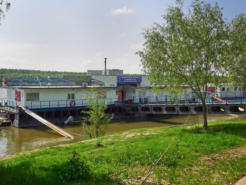 Biura Galati Obniżają Danube Rzecznej administraci w Braila, Rumunia zdjęcie stock
