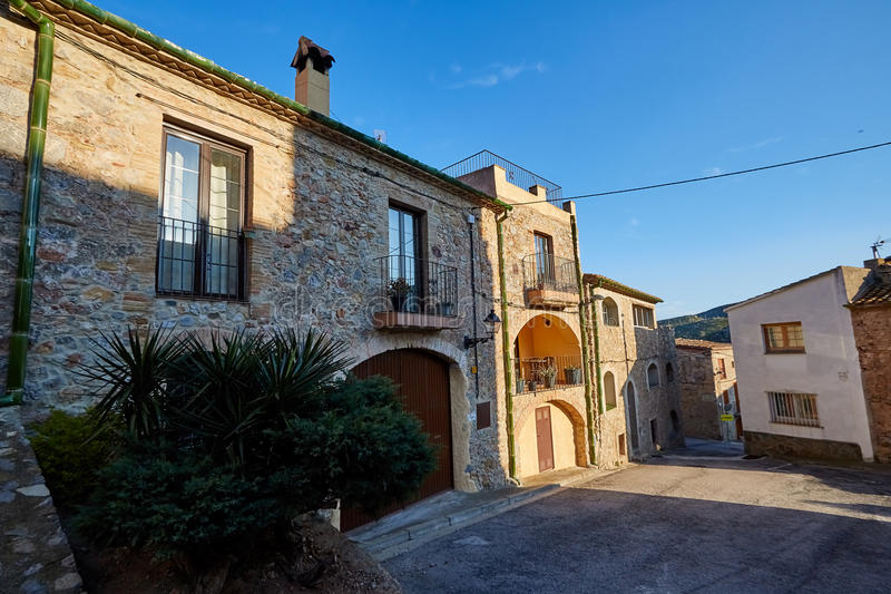 Biure Dorp, Girona, Spanje royalty-vrije stock foto