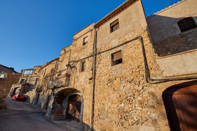 Biure Dorp, Girona, Spanje stock afbeeldingen