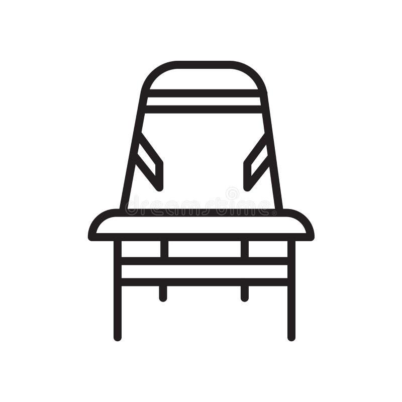 Biurka krzesła ikona odizolowywająca na białym tle royalty ilustracja