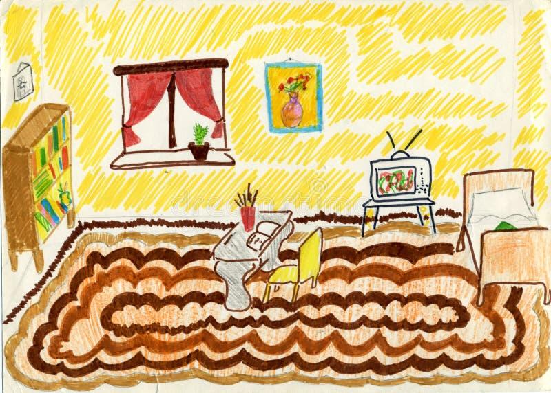 Download Biurka pokoju szkoła ilustracji. Obraz złożonej z ilustracje - 7282369