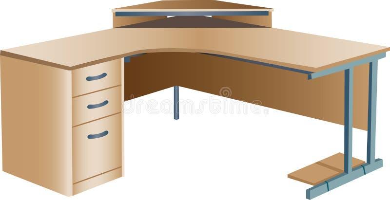 biurka wędkujący narożnikowy biuro royalty ilustracja