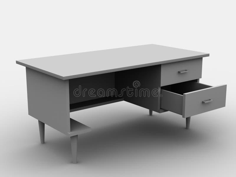 biurko ilustracji