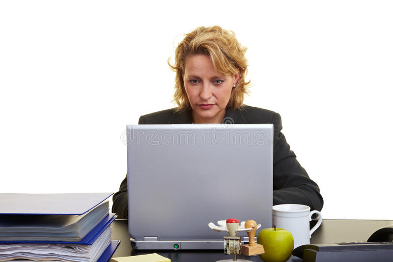 biurko biznesowa kobieta zdjęcie stock