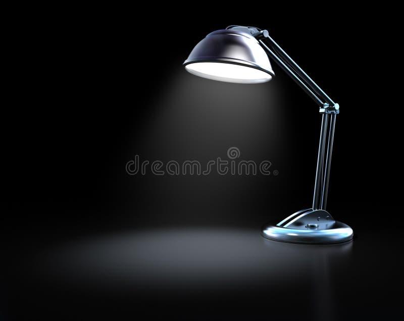 biurko ciemna lampa royalty ilustracja