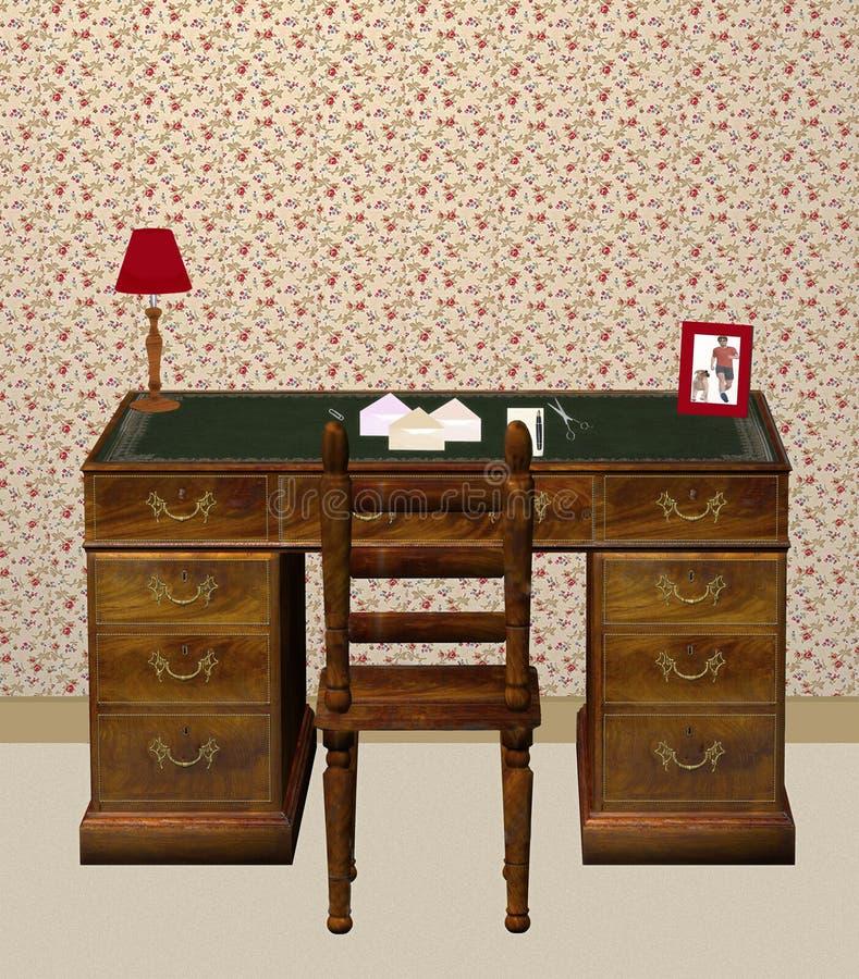 biurko do domu royalty ilustracja