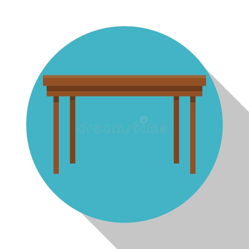 Biurko drewnianej pracy biurowy wyposażenie royalty ilustracja