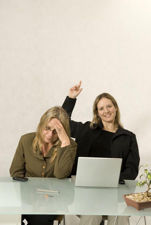 biurko kobiety dwa obraz stock