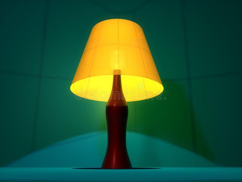 biurko lampa ilustracja wektor