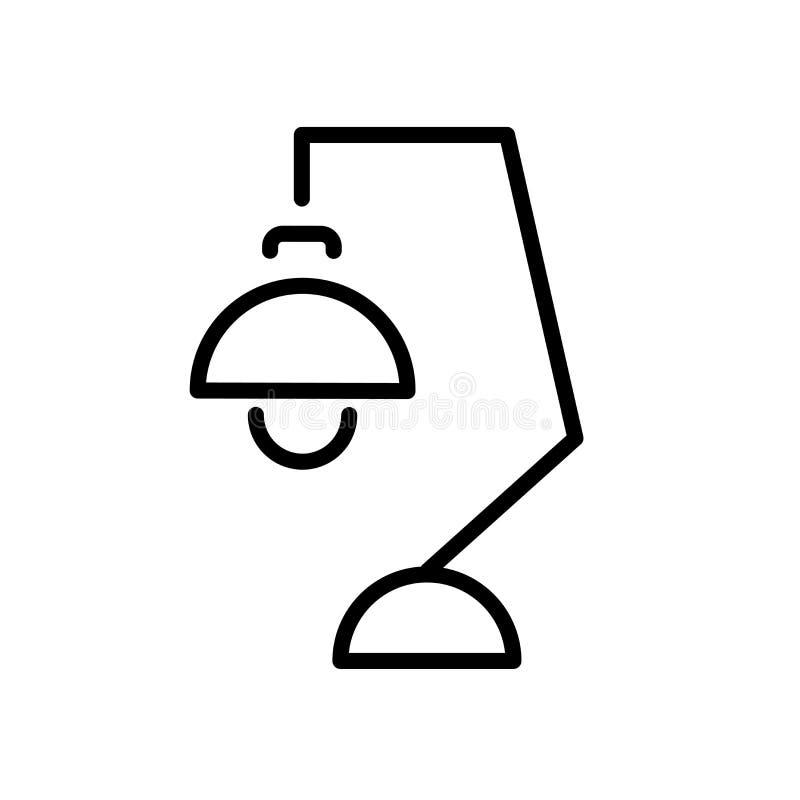 Biurko lampy ikony wektor odizolowywający na białym tle, biurko lampa si royalty ilustracja