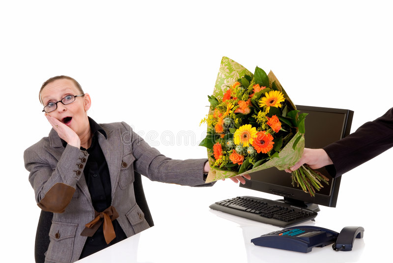biurko sekretarki, dnia fotografia stock