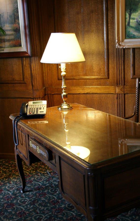 biurko z przodu zdjęcia stock
