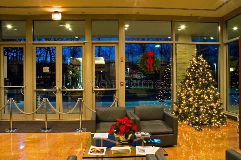 biuro Świąt lobbują drzewa fotografia stock