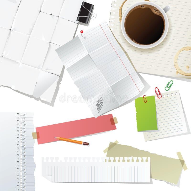biuro dostawy papierowe ustalone royalty ilustracja