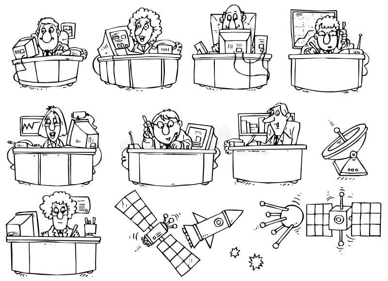 biuro drużyna royalty ilustracja