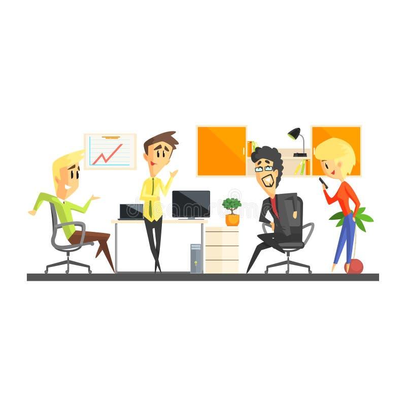Biuro drużyny Dyskutować royalty ilustracja