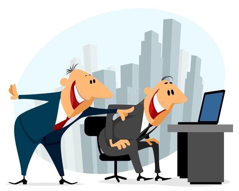 biuro dwóch biznesmena ilustracja wektor
