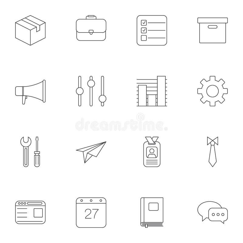 Biuro kreskowe ikony ustawia? ilustracja wektor