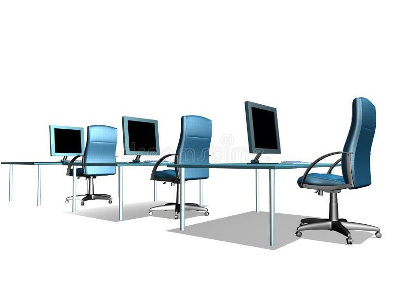 biuro lcd monitor ilustracji