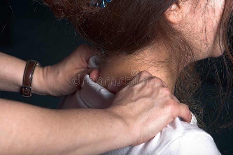 biuro masaż. zdjęcie stock