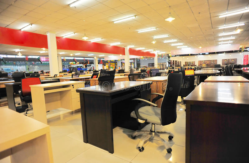 biuro meblarski sklep zdjęcie royalty free