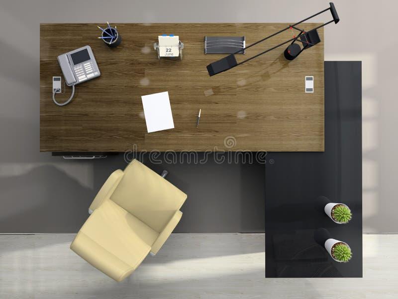 biuro na widok ilustracja wektor
