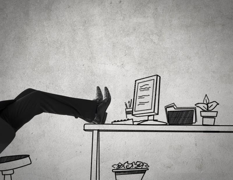 Biuro relaksuje ilustracja wektor
