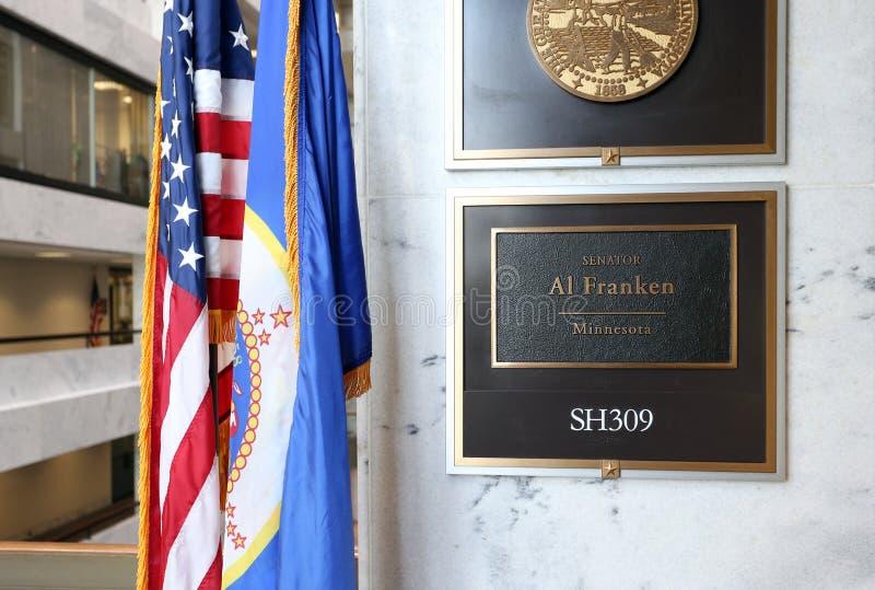 Biuro Stany Zjednoczone senatora Al Franken obrazy royalty free