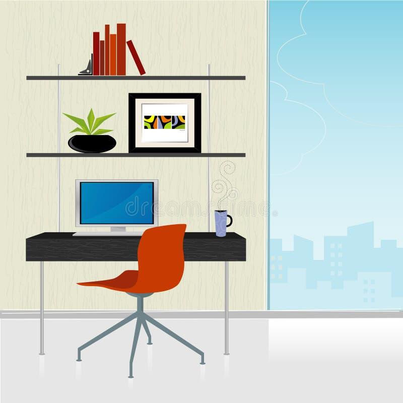 biuro w domu nowoczesne światła ilustracji