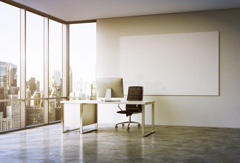 Biuro w drapaczu chmur ilustracja wektor