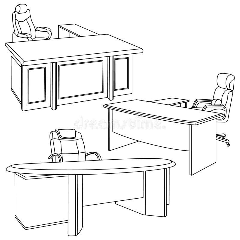 Biuro w nakreślenie stylu royalty ilustracja