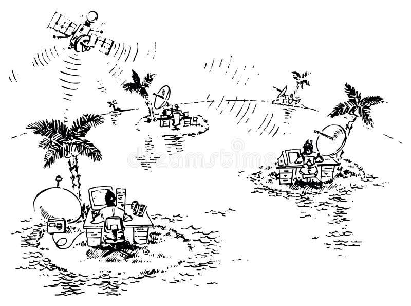 biuro wirtualny royalty ilustracja