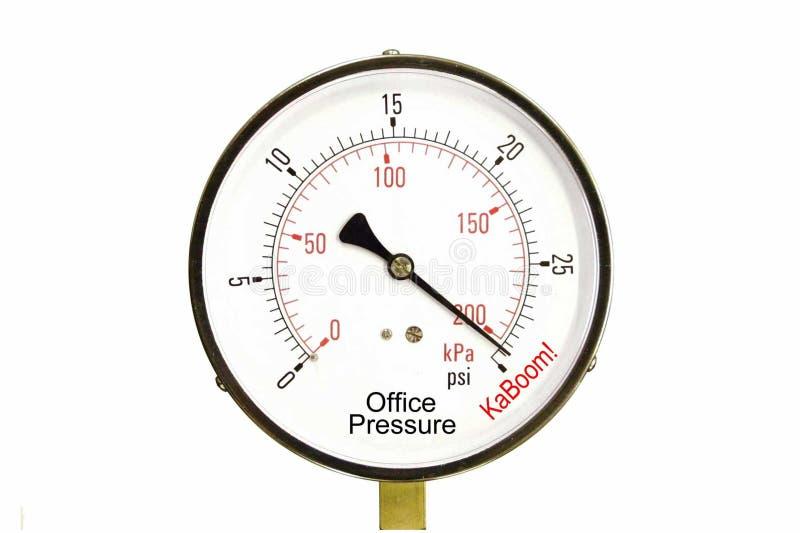 biuro wskaźnik stresu zdjęcia stock
